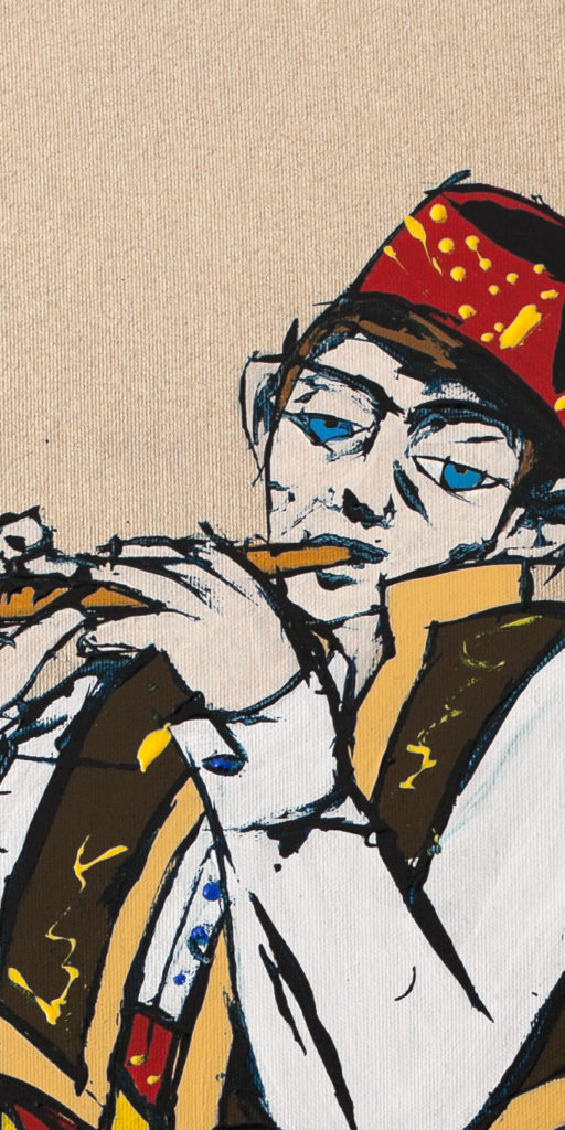 62% Poster Boy (Cropped) – The Young Bosniak Flautist -detail-