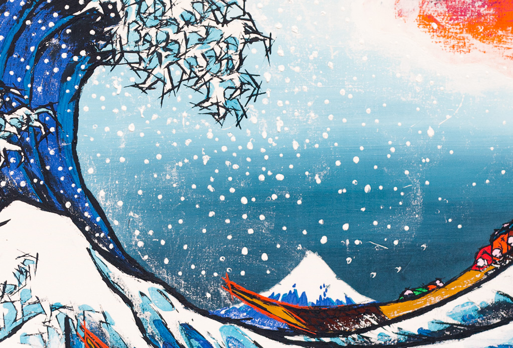 The Great Wave off Kanagawa after Hokusai -detail-