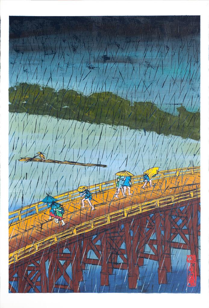 Sudden Shower on Ohashi Bridge near Atake after Hiroshige