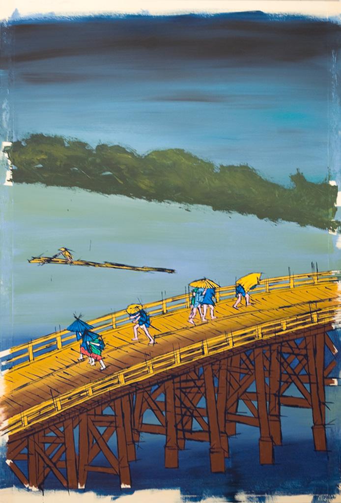 Sudden Shower on Ohashi Bridge near Atake after Hiroshige -work in progress-