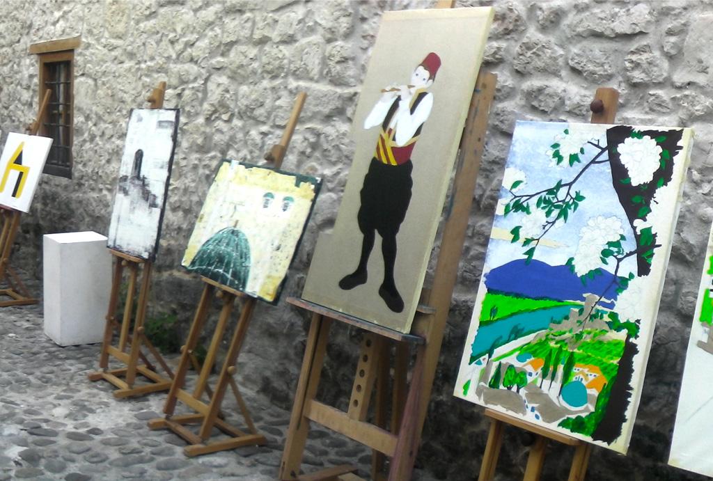 Hiroshige-e: Citadel and Počitelj on Neretva River -work in progress2-