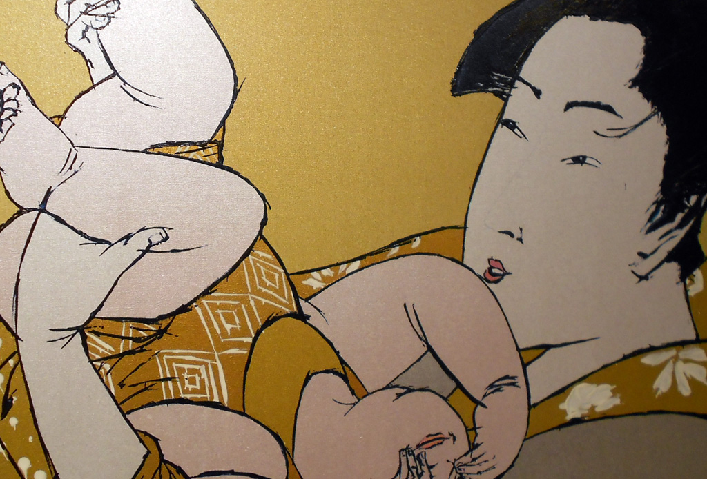 Mother with Child after Utamaro's Hour of the Rat -detail-