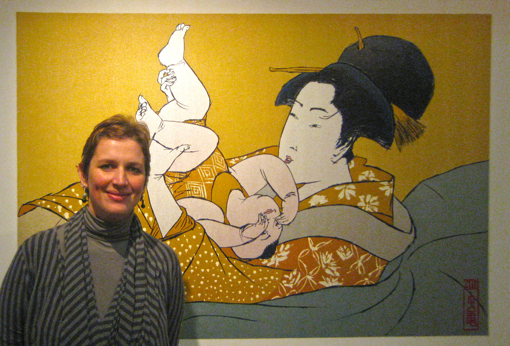Mother with Child after Utamaro's Hour of the Rat -size reference2-