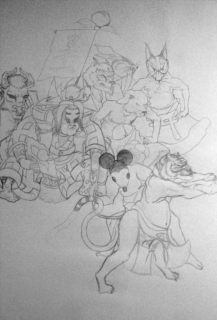 War of the Dragons after the Unknown Master -work in progress-