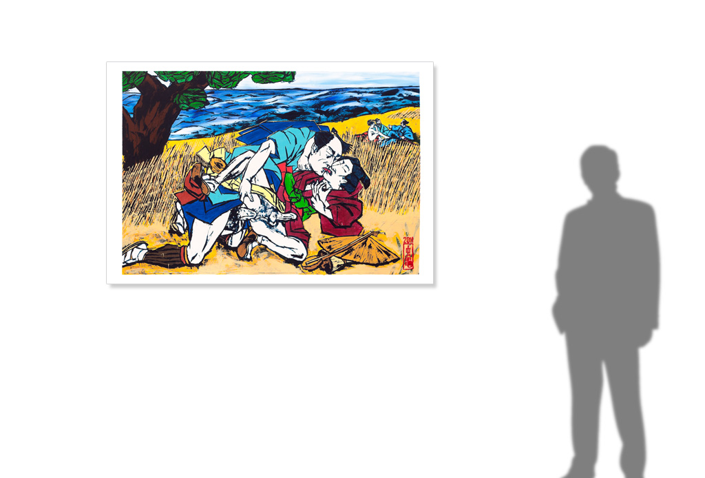 The Luncheon on the Grass/Le Bain after Hiroshige/Manet -size reference-