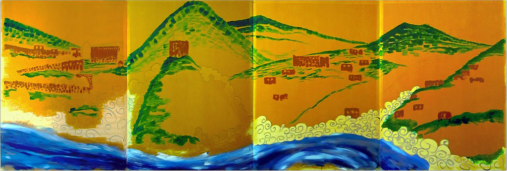 4 Aspects of Vranduk, Golden Brown, Mist and Cherry Blossom -work in progress-