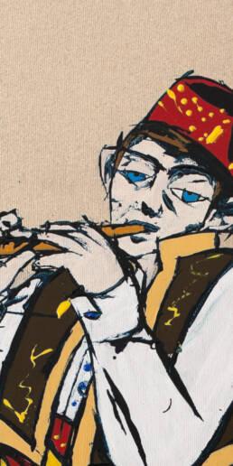 62% Poster Boy (Cropped) – The Young Bosniak Flautist -detail-