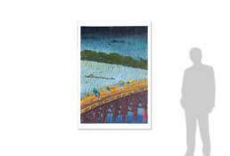 Sudden Shower on Ohashi Bridge near Atake after Hiroshige -size reference-
