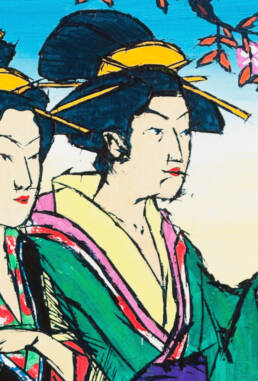Hanaogi from the Ogiya Establishment and Others after Chokosai Eisho -detail-