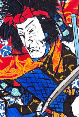Nanso Satomi Hakkenden, On the Roof of Horyu-ji after Toyokuni III -detail-