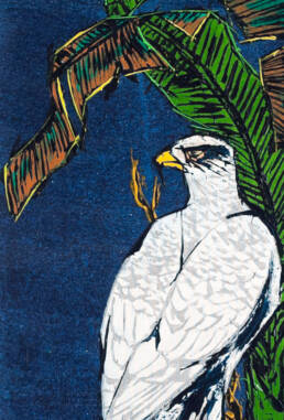 White Falcon after Koryusai -detail-
