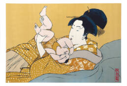 Mother with Child after Utamaro's Hour of the Rat