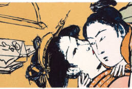 Couple after Torii Kiyonaga -detail-
