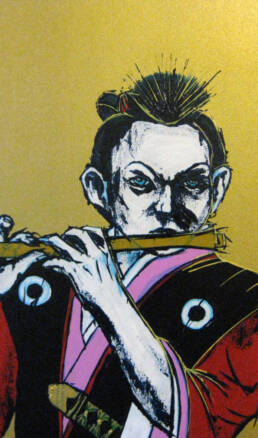 Poster Boy - The Young Samurai Flautist -detail-