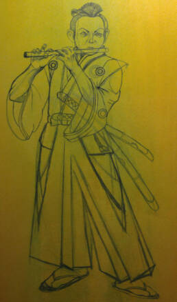 Poster Boy - The Young Samurai Flautist -work in progress-