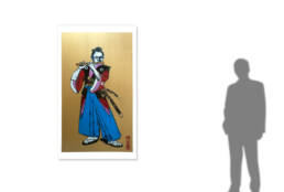 Poster Boy - The Young Samurai Flautist -size reference-